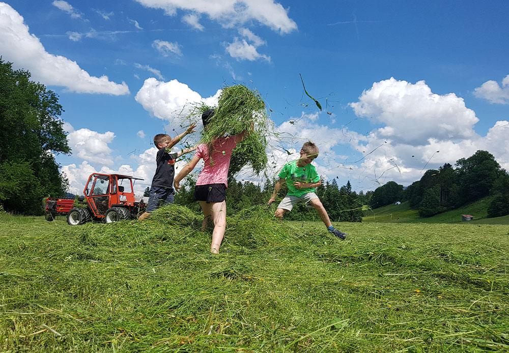 Spaß beim Urlaub auf dem Bauernhof