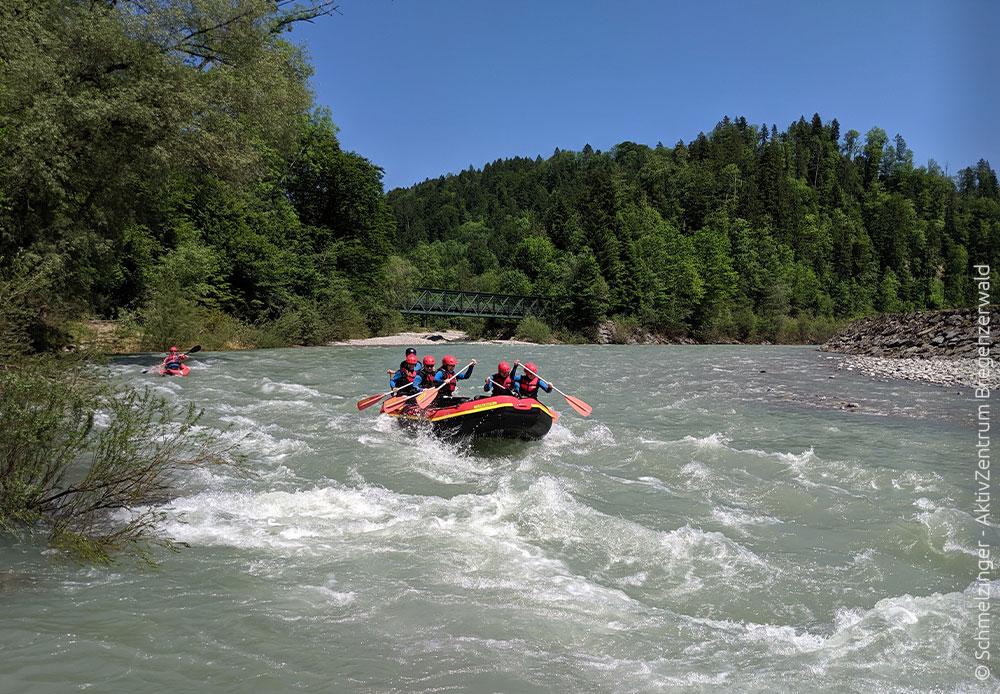 Rafting im Bregenzerwald