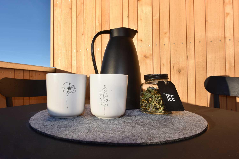 Ferienwohnung Nahtur Tee genießen